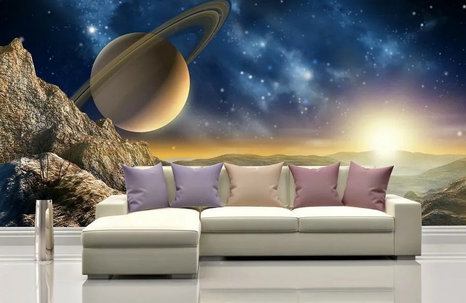 Cosmos Photomural Wallpaper for Living Room Walls