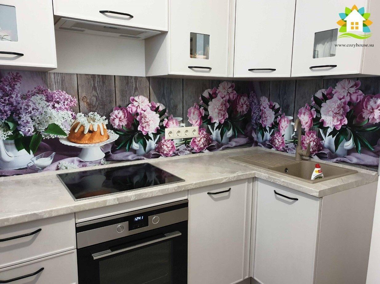 Фото монтажа фартука для кухни из МДФ от Cozy House