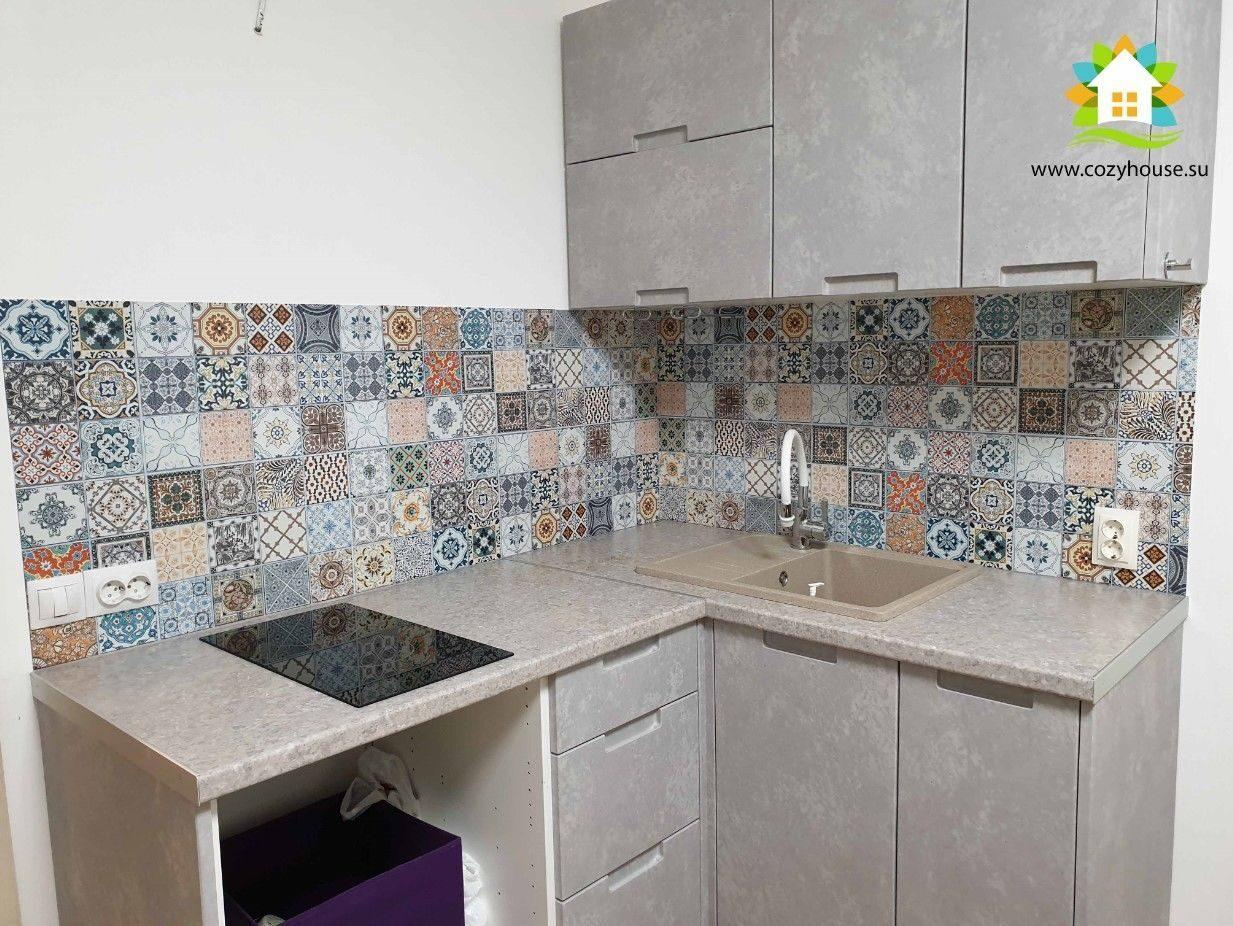 Фото монтажа кухонного фартука из МДФ от Cozy House