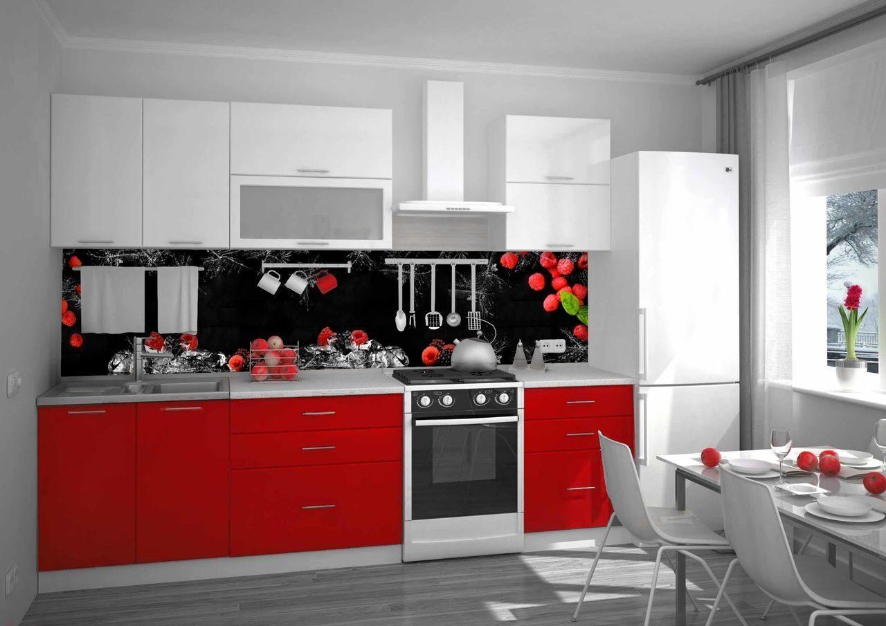 кухни в красно белом цвете фото еще