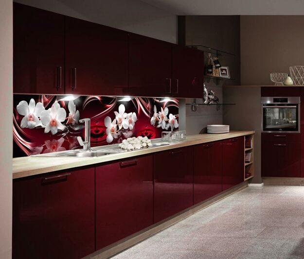 кухня в вишневом цвете дизайн фото ничего сложного