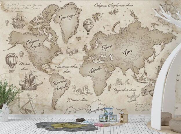 Фотообои карта мореплавателей